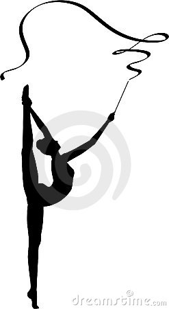 Rhythmic Gymnastics: Ribbon Royalty Free Stock Image.