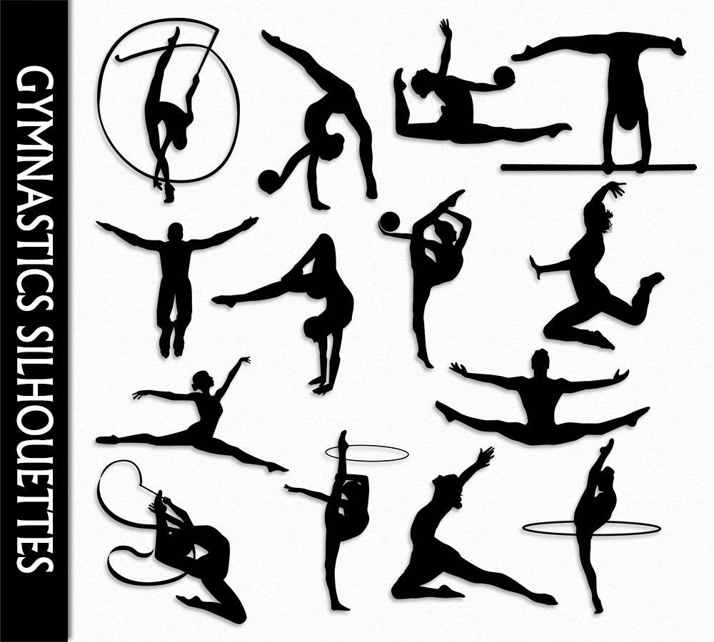 Gymnastics Clip Art Graphic Rhythmic Gymnastics Clipart.