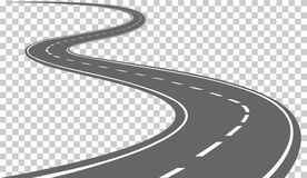 Curved road clipart.