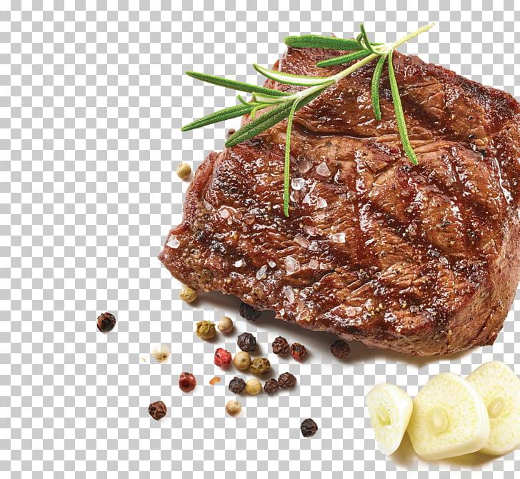 Rib eye steak Game Meat Steak au poivre Roast beef, food.