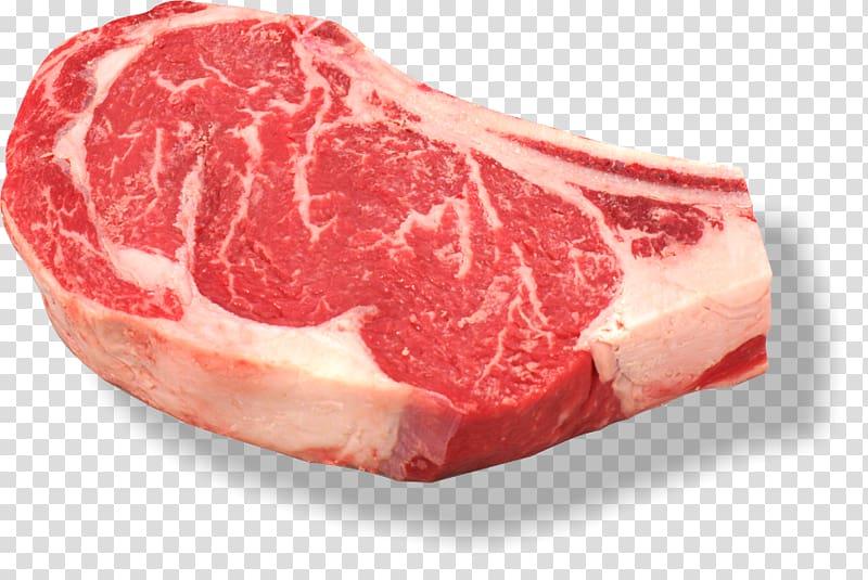 Roast beef Beefsteak Ribs Rib eye steak, meat transparent.