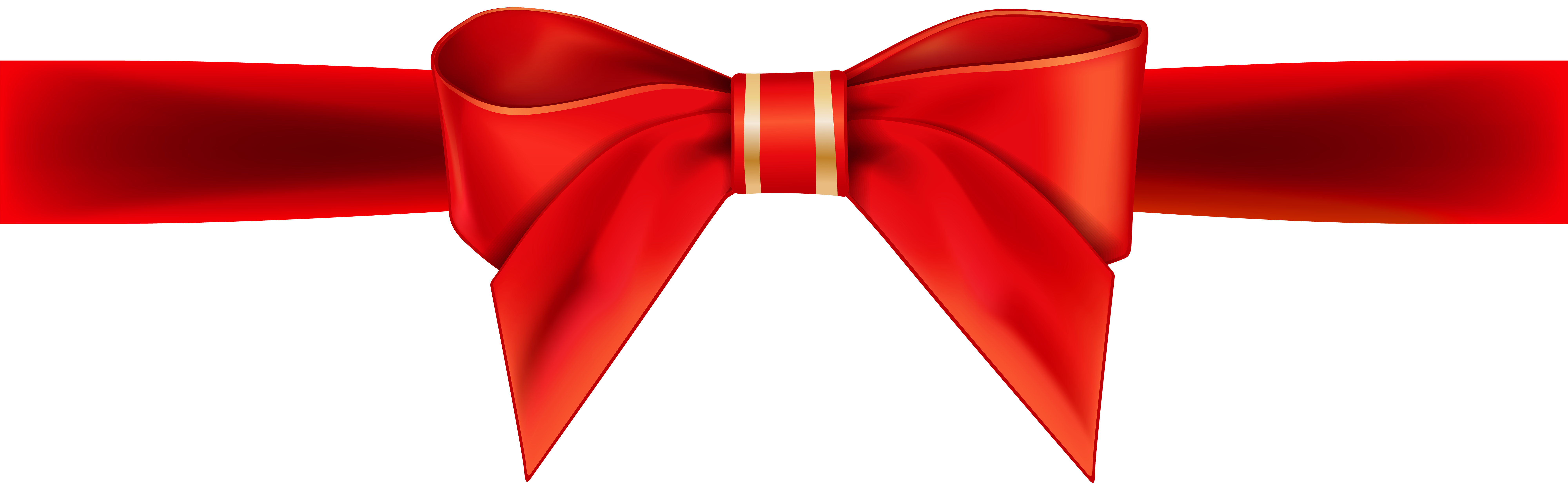Red Ribbon Bow Transparent PNG Clip Art Image.