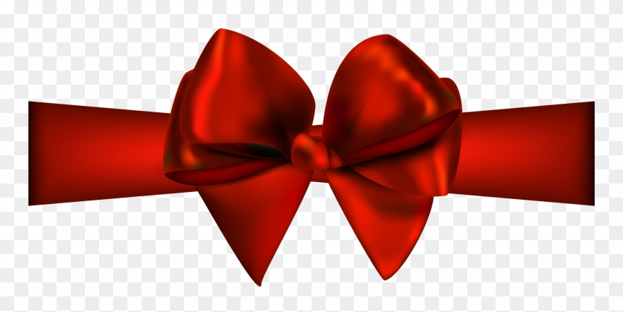 Red Ribbon With Bow Png Clip Art.