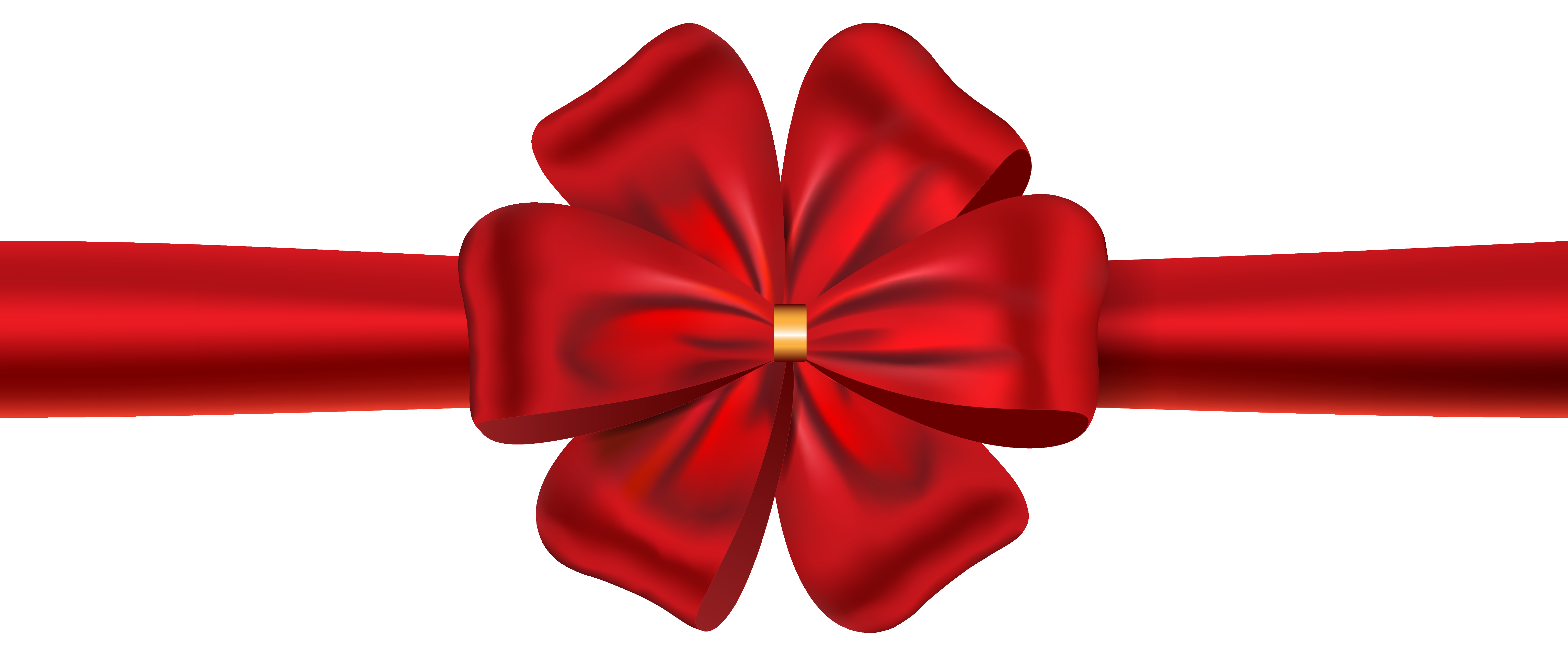 Red Ribbon with Bow PNG Image.