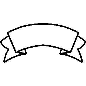 Banner Clipart Black And White.