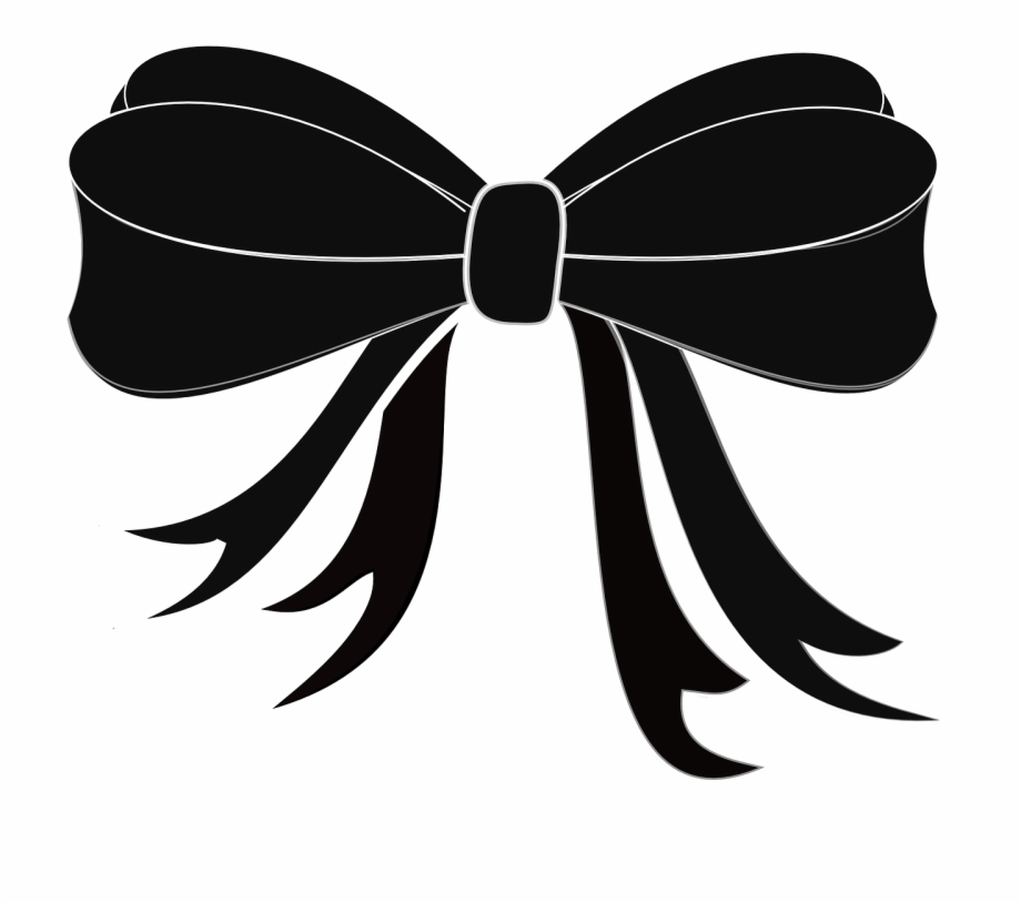 Ribbon Black Bow.