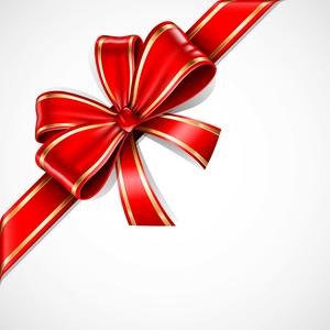 Free Christmas Ribbon Border Clipart.
