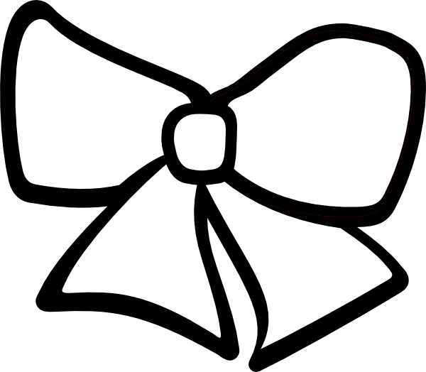 Hair Bow Clipart Black And White.