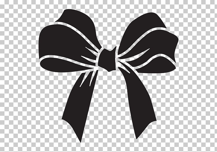 Bow tie Black and white , black bow tie PNG clipart.