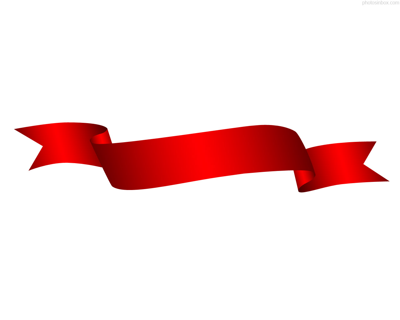 Red ribbon clipart clip art.