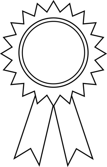 Award Ribbon Clipart Outline.