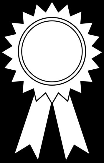 Award Ribbon Clipart Outline.
