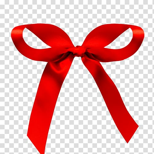 Ribbon Red Computer file, Bow transparent background PNG.