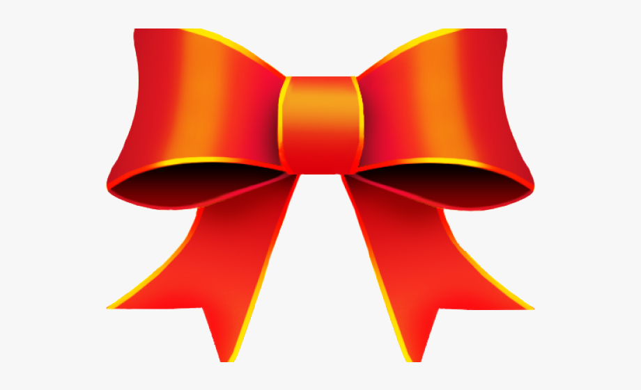 Christmas Ribbon Clipart Orange.