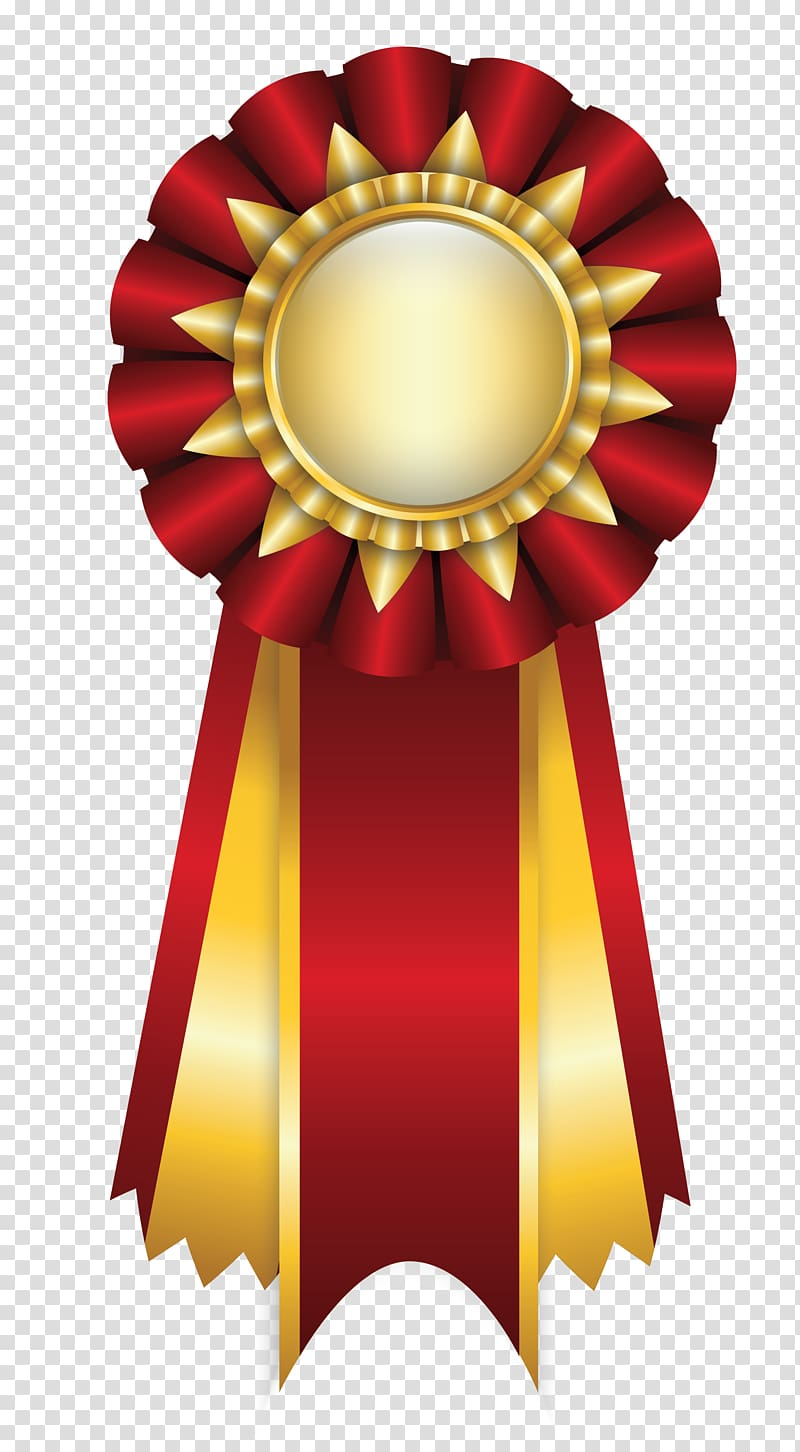 Ribbon Rosette , Red Rosette Ribbon , red and yellow ribbon.