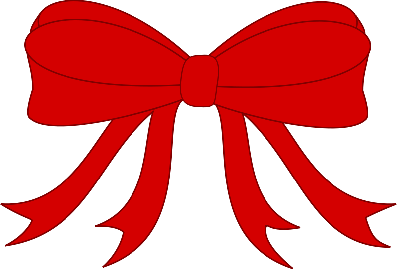 Free Clipart: Red Bowed Ribbon.