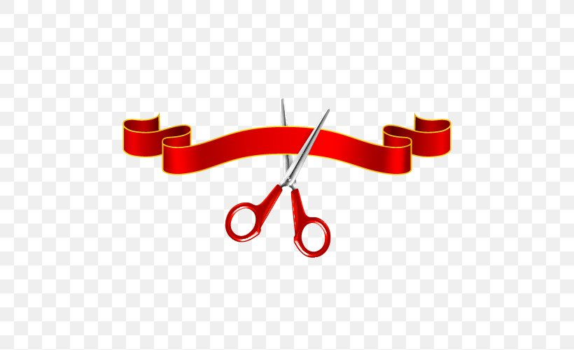 Scissors Ribbon Opening Ceremony Clip Art, PNG, 500x501px.