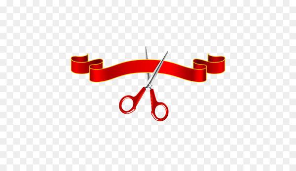 Scissors Ribbon Opening ceremony Clip art.