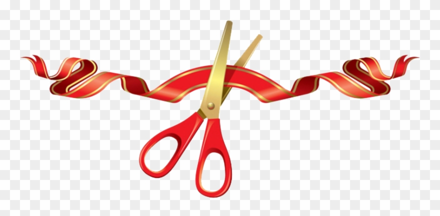 Opening Ribbon Cutting Png Clipart (#602889).