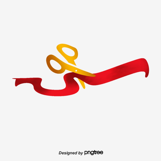 Ribbon Cutting PNG Images.