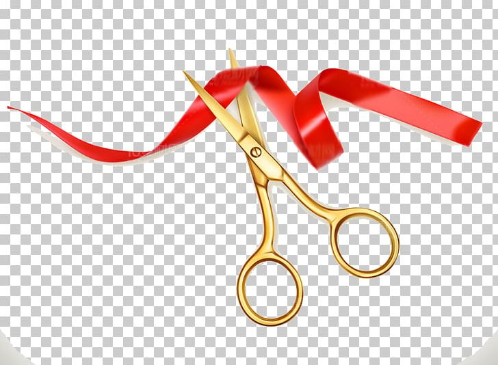 Scissors Ribbon Opening Ceremony Cutting PNG, Clipart, Brand.