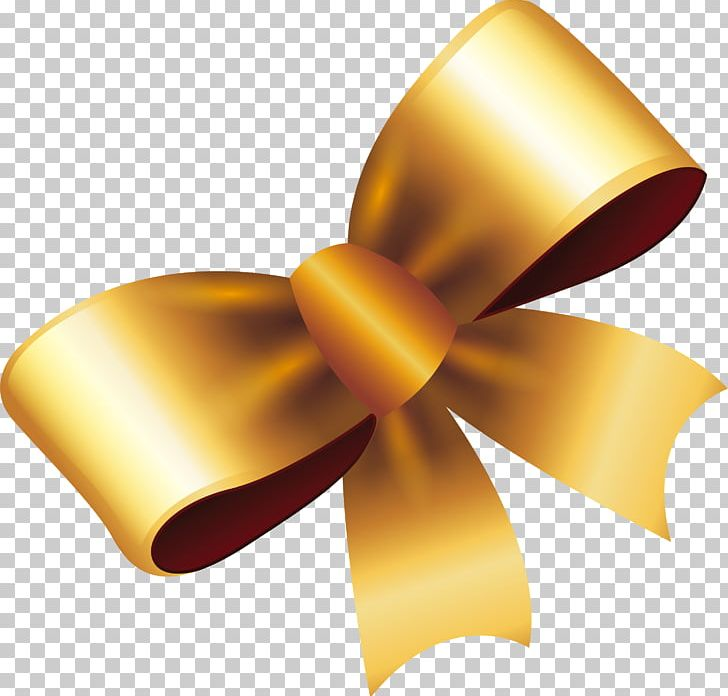 Ribbon Gold Gift PNG, Clipart, Adobe Illustrator, Bow, Bow.