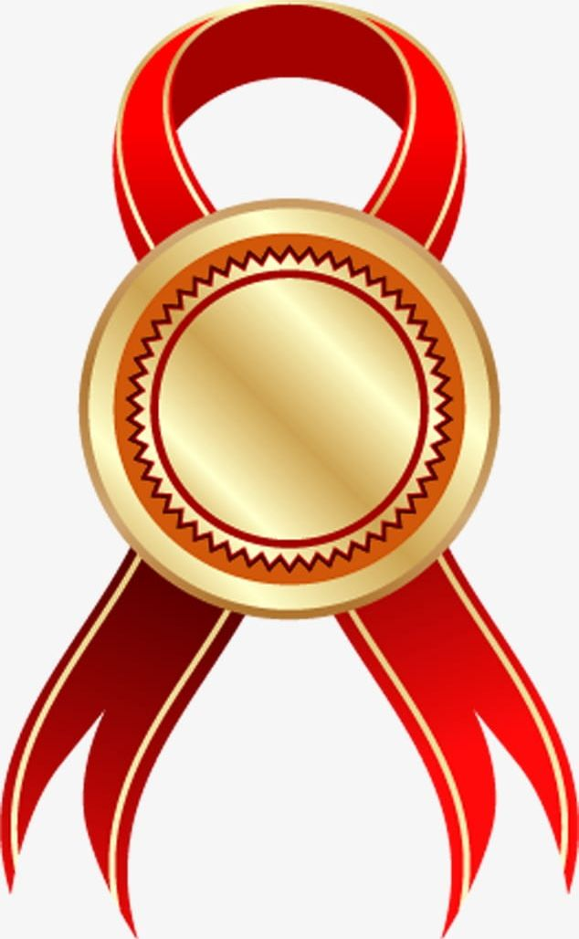 Gold Medal With Red Ribbon PNG, Clipart, Gold, Gold Clipart.