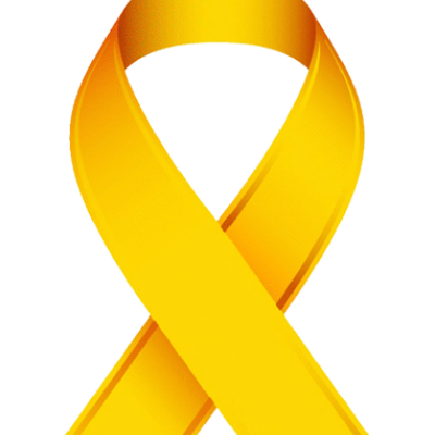 Gold Awareness Ribbon Clip Art.