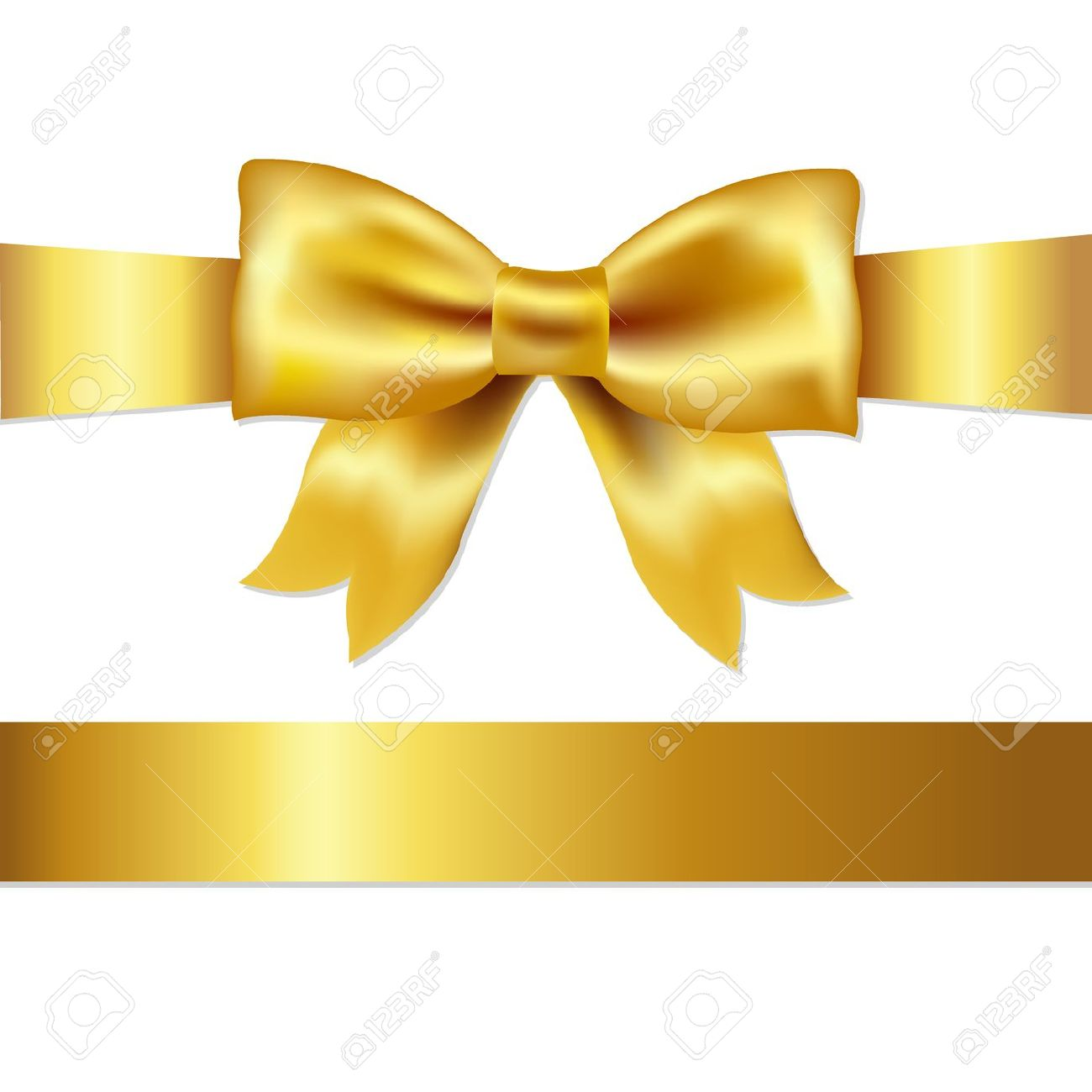 Gold Bow Ribbon Clipart.