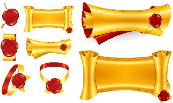 Gold ribbon clip art free vector download (213,079 Free vector.