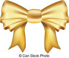 Gold ribbon clip art.