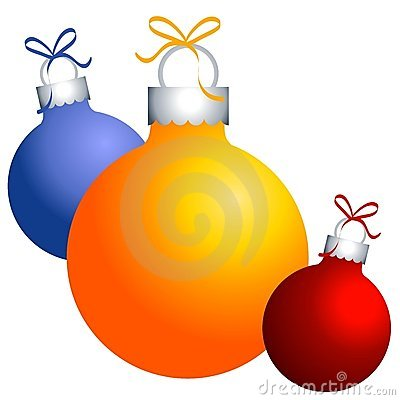 Christmas Ornaments Clip Art Stock Image.