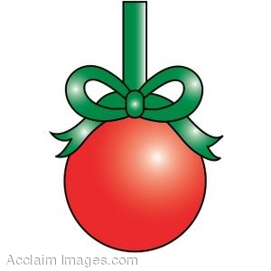 Clip Art of a Christmas Ball Ornament.