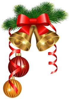 Christmas Red Ribbon PNG Clipart Image.