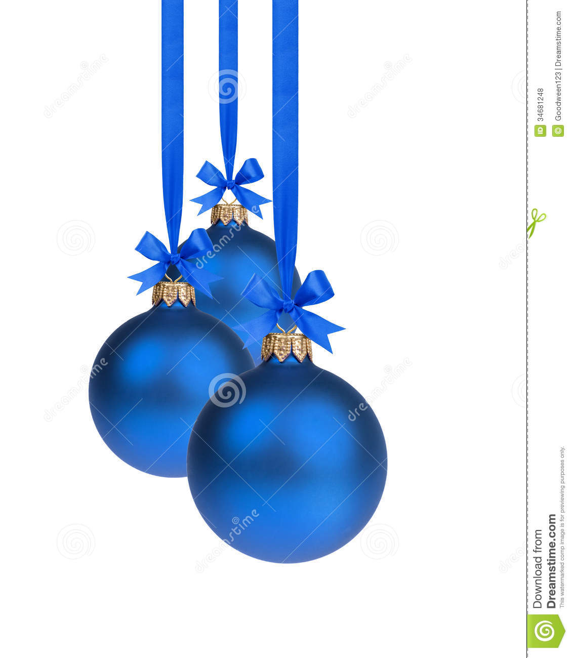 Blue Christmas Ribbon Clipart.