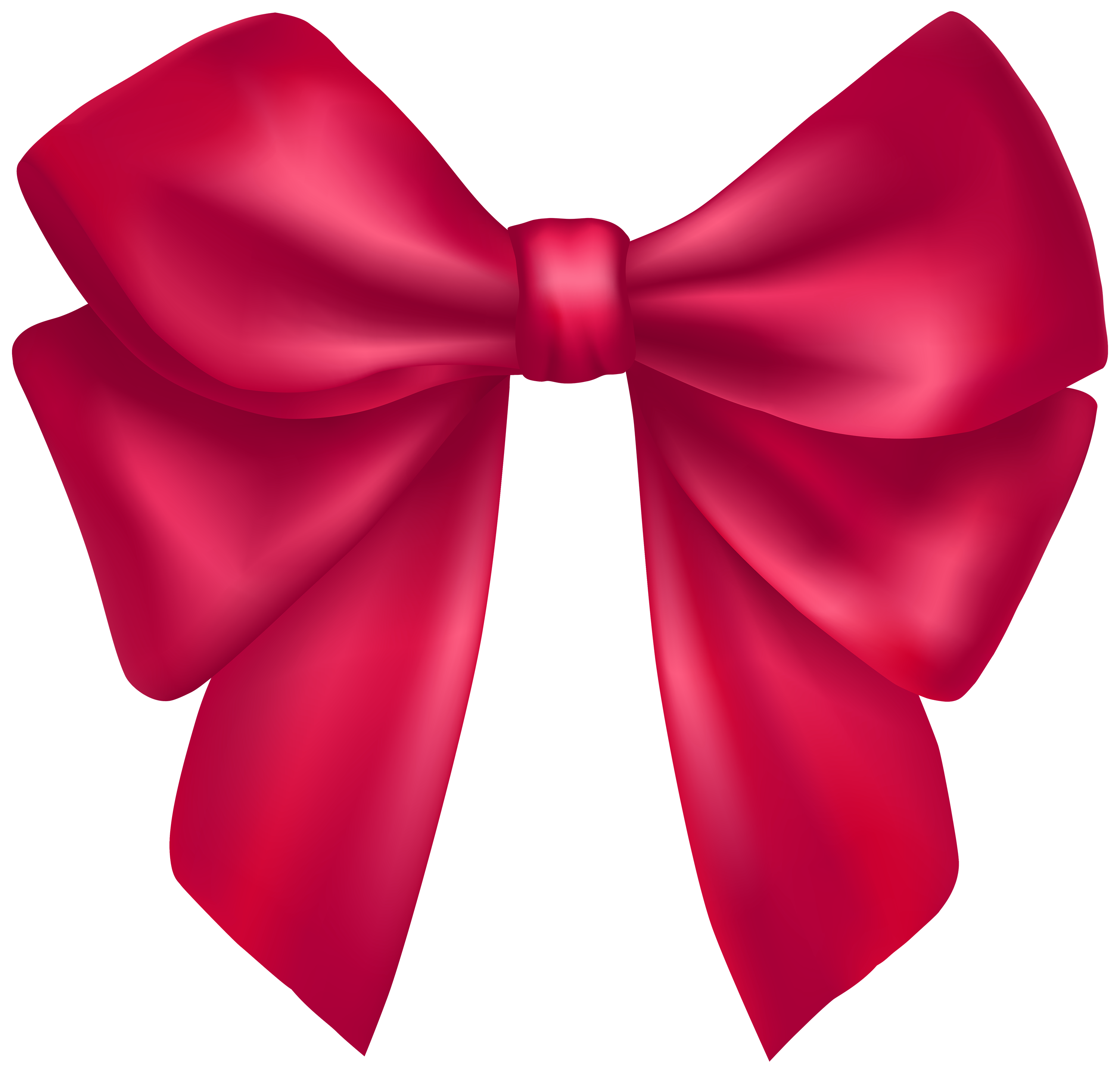 Dark Pink Bow PNG Clipart.