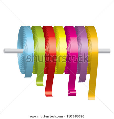 Ribbon Rolls Stock Photos, Royalty.
