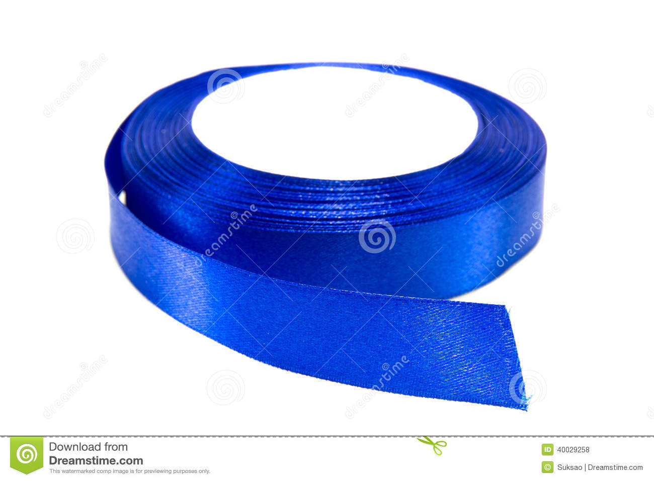 A Roll Of Blue Ribbon Royalty Free Stock Photography.