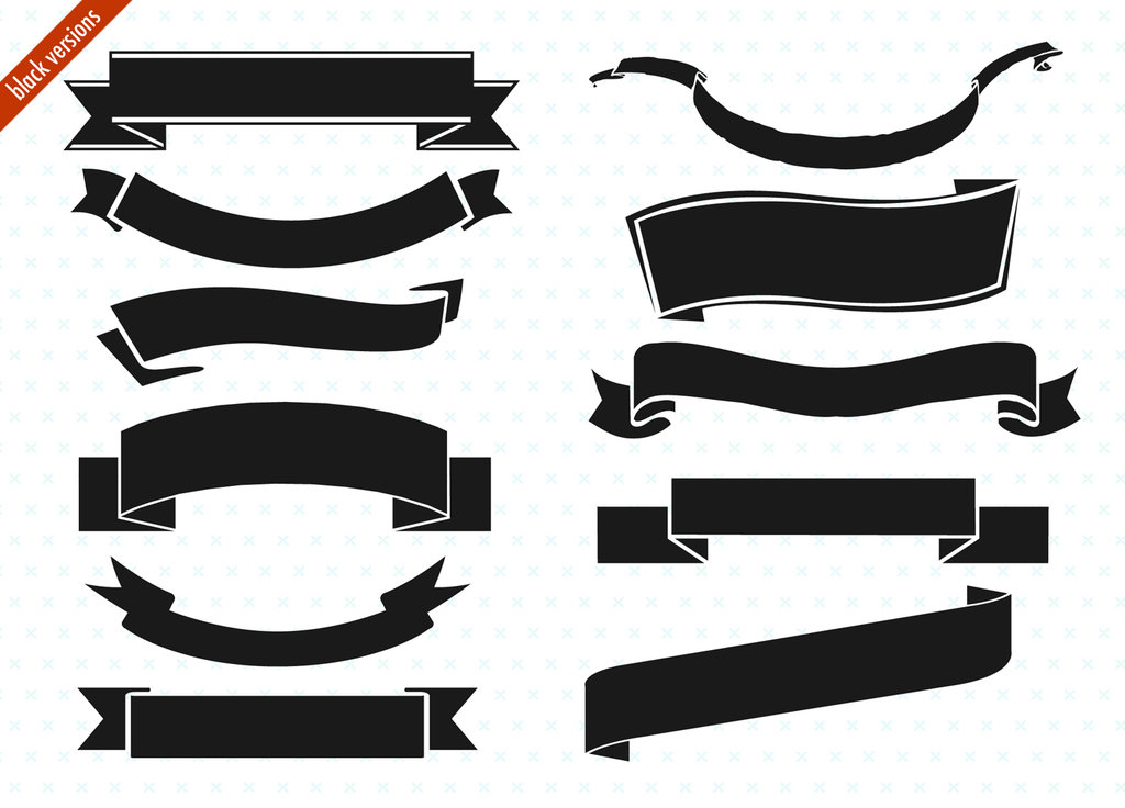 Free Ribbon Vector Black White Png, Download Free Clip Art.