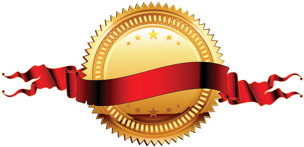 Medal ribbon vector Free vector in Encapsulated PostScript eps.