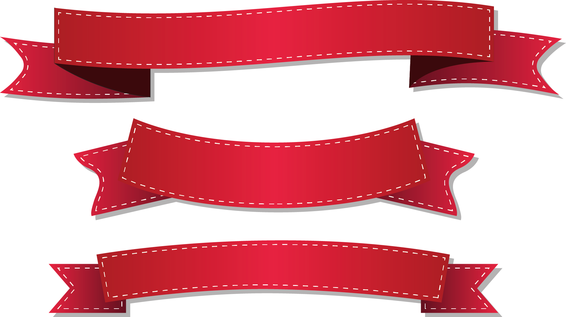 Red ribbon vector clipart images gallery for free download.