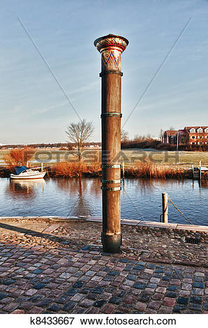 Picture of City of Ribe, Denmark, Flood column k8433667.