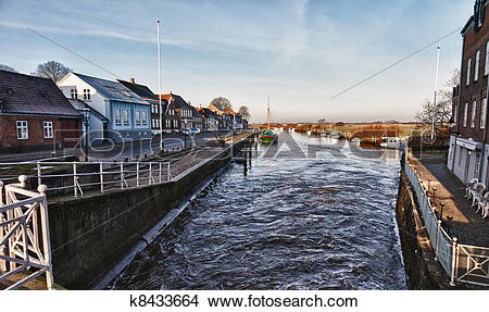 Stock Photo of City of Ribe, Denmark k8433664.