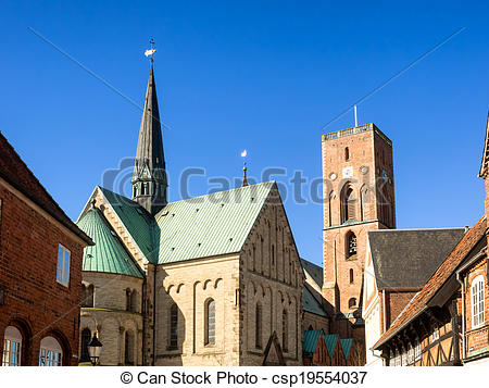 Stock Photos of Cathedral in Ribe, Denmark.