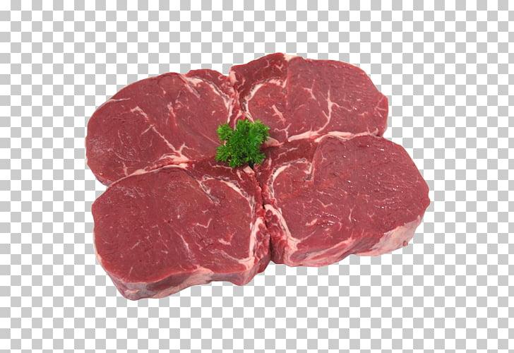 Rib eye steak Meat Sirloin steak Beef, fillet PNG clipart.