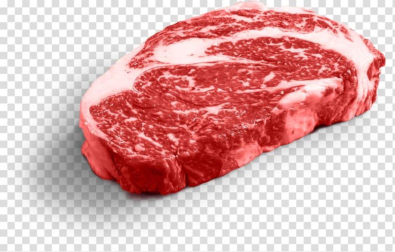 Omaha Beefsteak Rib eye steak Meat, steak transparent.