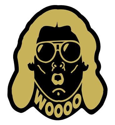 Ric Flair Gold Vinyl Decal WWE WOOO Car, truck, laptop Sticker WWF NWA WCW  3inch.