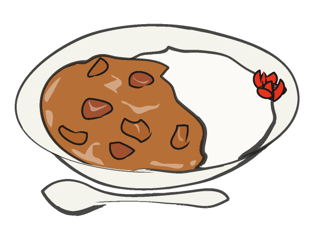 Curry and rice clipart.