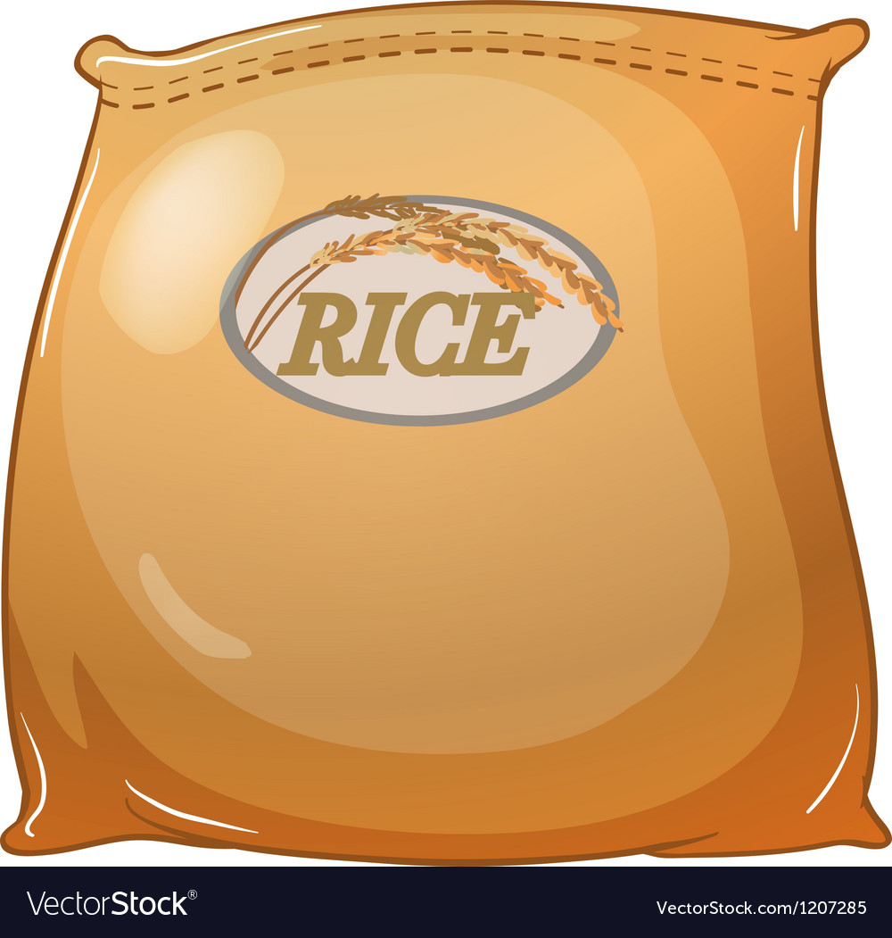 A sack of rice.