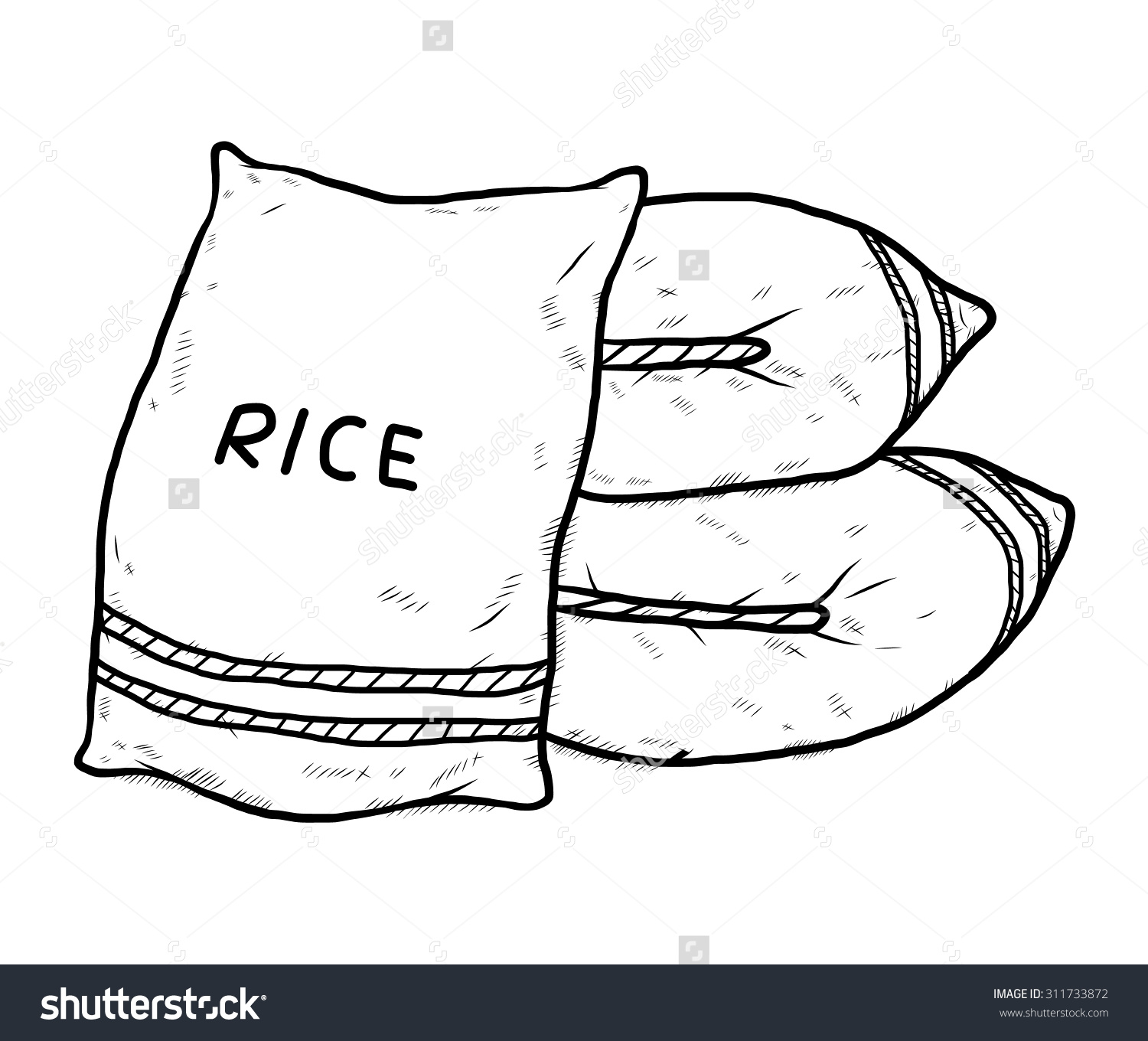 Rice bag clipart 10 » Clipart Station.